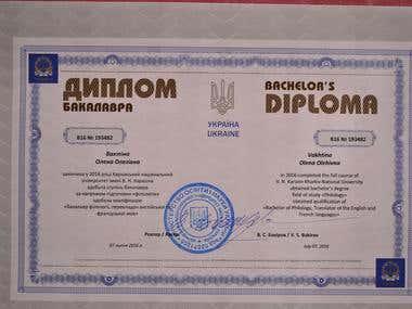 Bachelor's Diploma