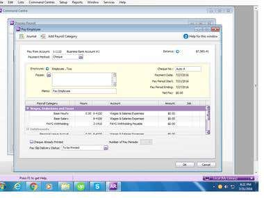 Payroll Processing Using MYOB