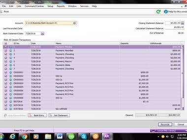Bank Reconciliation Using MYOB