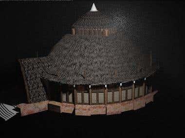 Temple of Dosh khaleen building model