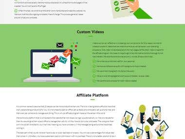 One Page Wordpress Site