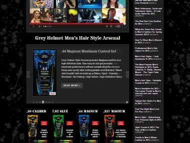 Grey Helmet WordPress Website