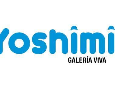 Diseño de logo de Yoshimi Galería.