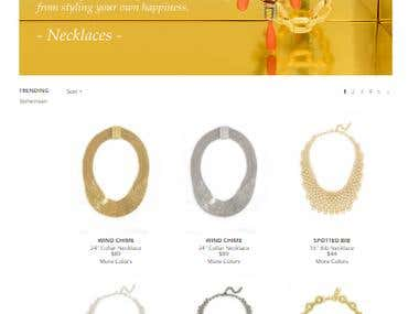 Magento Based online store for women fashion jewelry