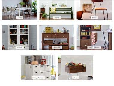 Magento Based online furniture stored.