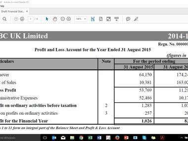 Draft Final Accounts (FRSSE Compliant)