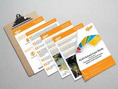KLOO brochure design