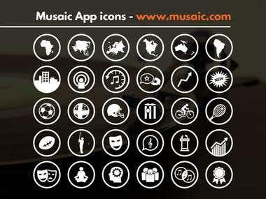 Musaic App icon design
