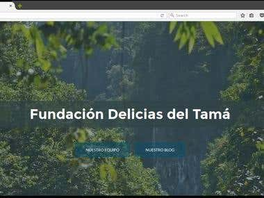 Página Web Fundación Delicias del Tamá