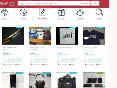 like ZenMarket - webdevelopment, yahoo japan api