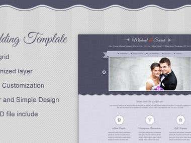 My wedding psd template