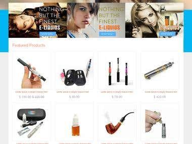 eCommerce E-Cigarette Selling
