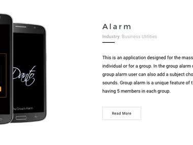 Dante Alarm App