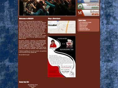 A Church Website - Mocop