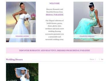 Bridal Dress Wordpress Site