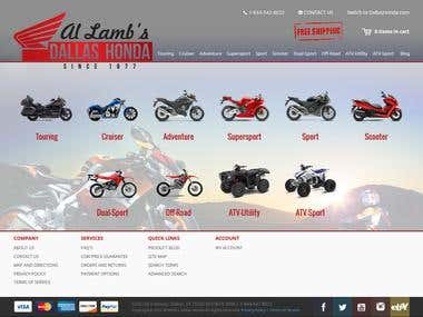 Motorcycle part ecommerce website
