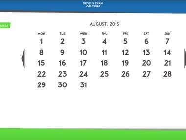 Student Project - Calendar
