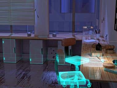 Midnight - Interior Design Study 3D