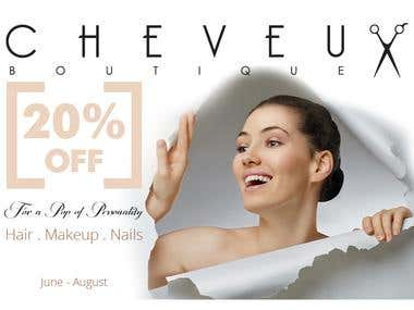 Flyer for Cheveaux Boutique