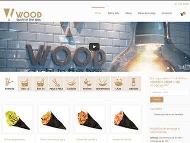 Website for Wood Sushi Restaurant