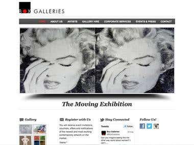 Website for Box Galleries - London