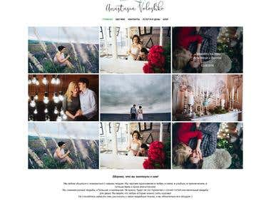 Personal website for wedding photographer Anastasia Voloshko