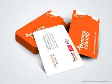 Business Card for Winning Identity