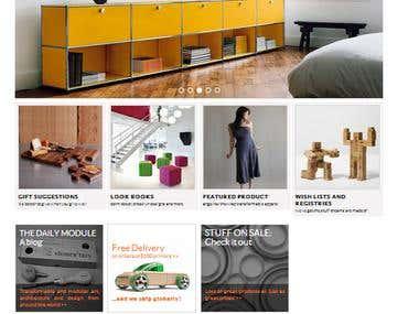 Customizable Art + Design Website
