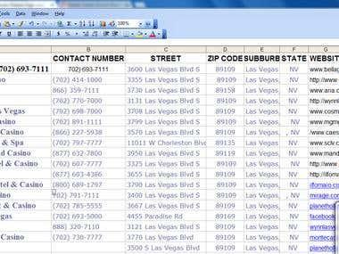 Data processing of Casino
