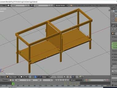 3d Modeling - Chicken Cage