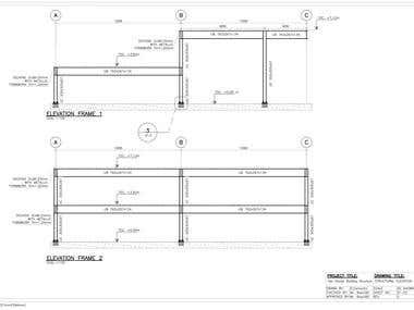 Structural Design For Two Stories Steel Building