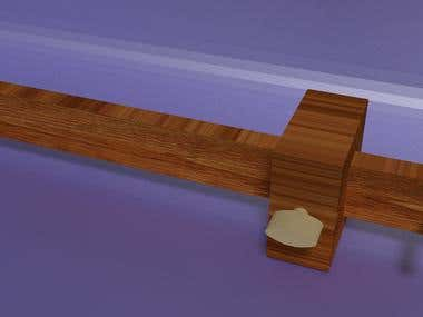 3d Rendering Modeling - Wooding tool