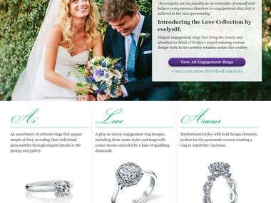 Introduction to New Bridal Collection by Jewelry Designer