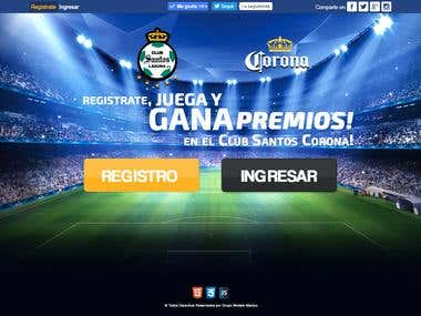 Project for the Club Santos Laguna - sponsored by Corona!