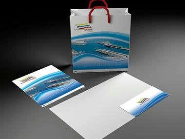 Corporative giftbag and folder for Venezuelan Port Authority