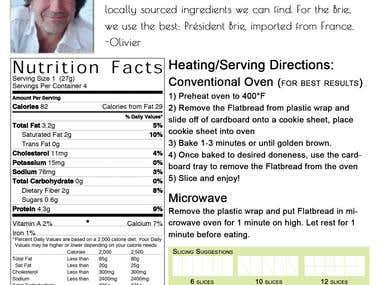 Labels for Flatbread Pizza Company