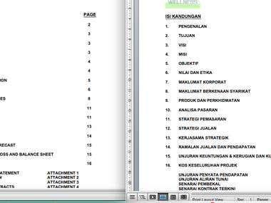 English-Malay Translation : Business Proposal