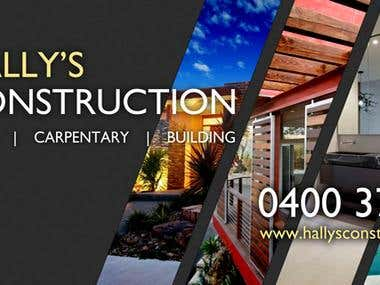 Hally's Construction - Banner Design