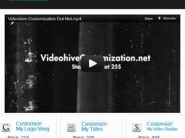 VideoHive Customization Website