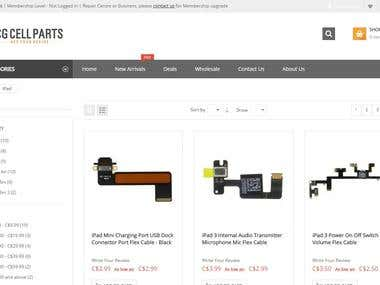 Magento based ecommerce web application