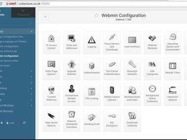 webmin and virtualmin setup