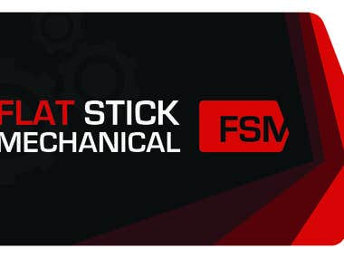 Flat Stick Mechanical - Business Card & Logo Design