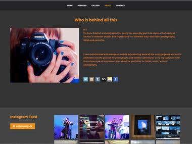 Personal Phographer Portfolio Webiste