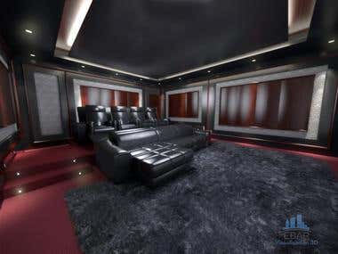 Contest design home theatre room