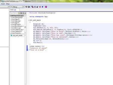 C++ programming.