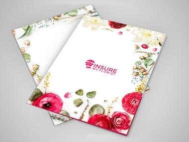 Promotional Folder Package for Florist Insurance