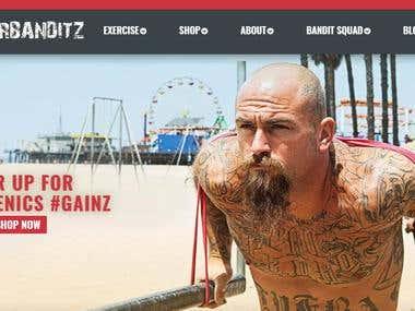 www.rubberbanditz.com PSD to Magento
