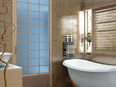 3d bathroom design.