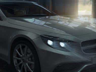 Mercedes Benz S63 AMG Render