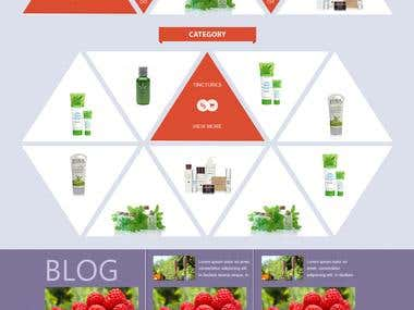 Online store - herbal products